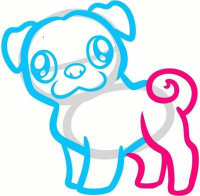 How to draw a pug: an easy drawing for beginners